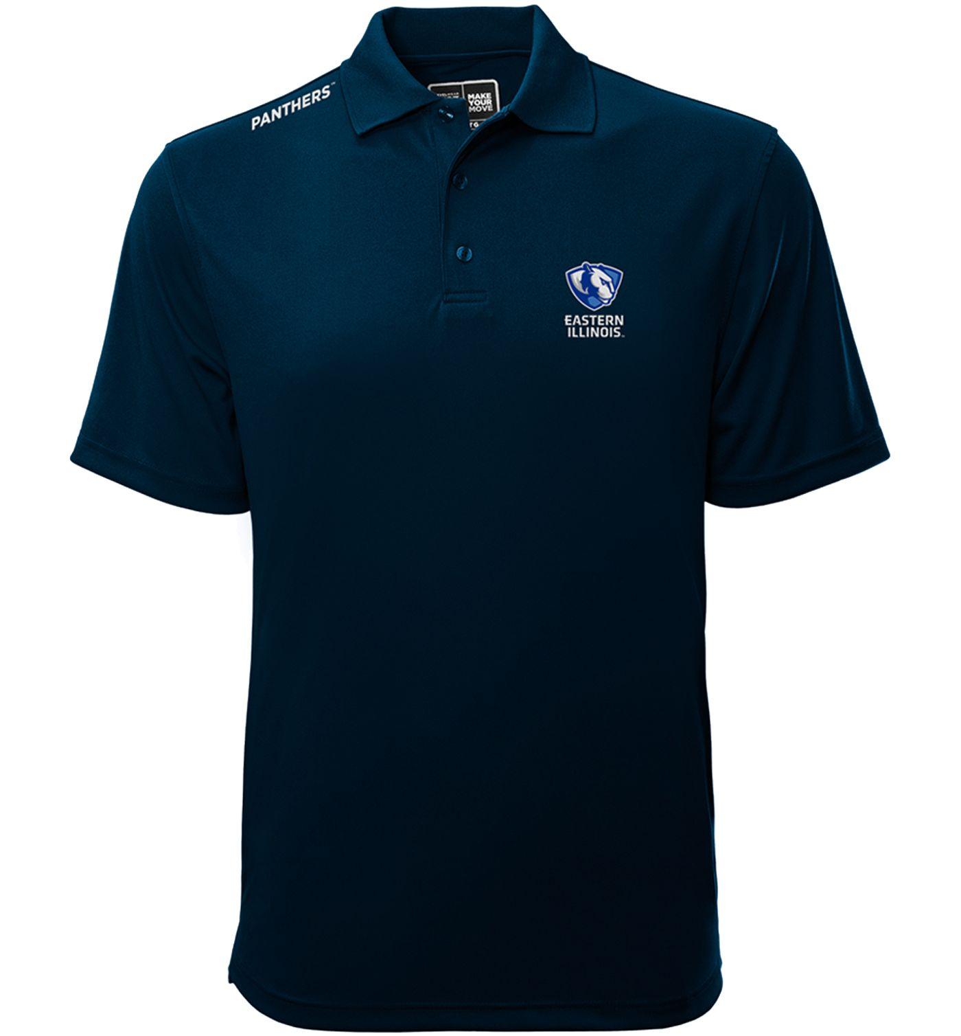 Levelwear Men's Eastern Illinois Panthers Blue Helium Polo