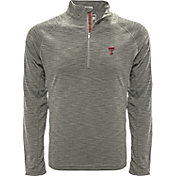 Levelwear Men's Texas A&M Aggies Grey Mobility Long Sleeve Quarter-Zip Shirt