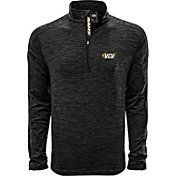 Levelwear Men's Virginia Tech Hokies Grey Armour Quarter-Zip Shirt