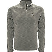 Levelwear Men's Vanderbilt Commodores Grey Mobility Long Sleeve Quarter-Zip Shirt