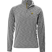 Levelwear Men's Wichita State Shockers Grey Mobility Long Sleeve Quarter-Zip Shirt