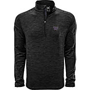 Levelwear Men's Washington Huskies Grey Armour Quarter-Zip Shirt