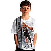 Levelwear Youth San Antonio Spurs Tim Duncan Breakaway White T-Shirt