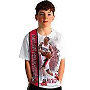 Levelwear Youth Portland Trail Blazers Damian Lillard Breakaway White T-Shirt