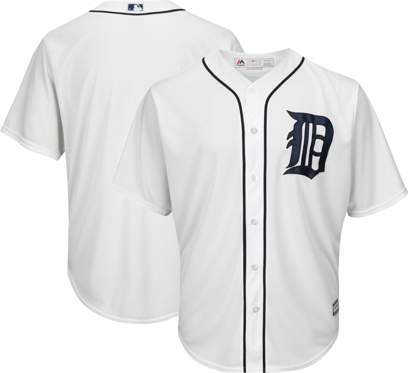 Majestic Boys' Replica Detroit Tigers Cool Base Home White Jersey