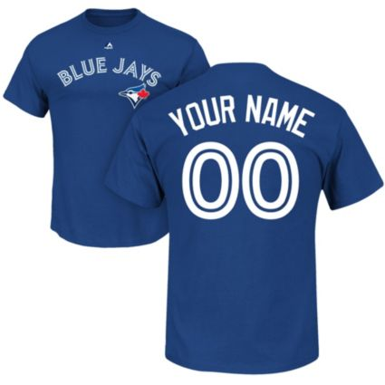 Majestic Men's Custom Toronto Blue Jays Royal T-Shirt