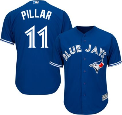b9bf084d52e Majestic Men s Replica Toronto Blue Jays Kevin Pillar  11 Cool Base  Alternate Royal Jersey