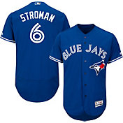 Majestic Men's Authentic Toronto Blue Jays Marcus Stroman #6 Alternate Royal Flex Base On-Field Jersey