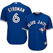 Majestic Men's Replica Toronto Blue Jays Marcus Stroman #6 Cool Base Alternate Royal Jersey