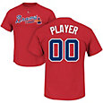 Majestic Men's Full Roster Atlanta Braves Red T-Shirt