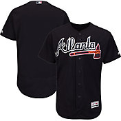 Majestic Men's Authentic Atlanta Braves Alternate Navy Flex Base On-Field Jersey