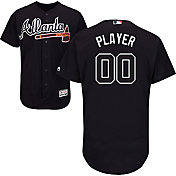 Majestic Men's Full Roster Authentic Atlanta Braves Flex Base Alternate Navy On-Field Jersey
