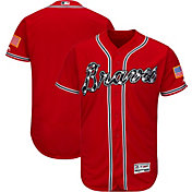 Majestic Men's Authentic Atlanta Braves Alternate Red Flex Base On-Field Jersey