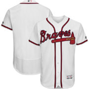 Majestic Men's Authentic Atlanta Braves Home White Flex Base On-Field Jersey