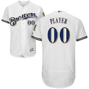 Majestic Men's Full Roster Authentic Milwaukee Brewers Flex Base Home White On-Field Jersey