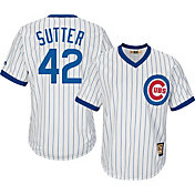 Majestic Men's Replica Chicago Cubs Bruce Sutter Cool Base White Cooperstown Jersey