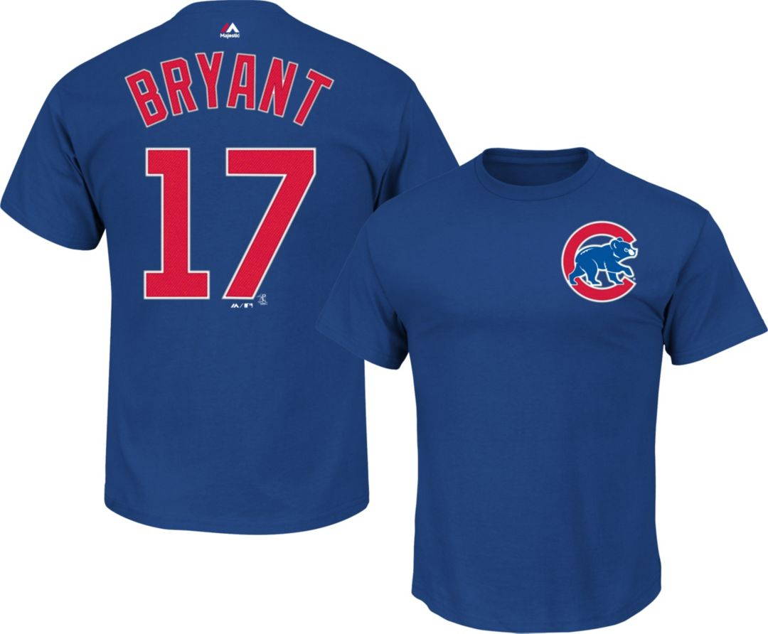 sneakers for cheap bc271 e97b6 Majestic Men's Chicago Cubs Kris Bryant #17 Royal T-Shirt