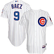 Majestic Men's Authentic Chicago Cubs Javier Baez #9 Cool Base Home White On-Field Jersey
