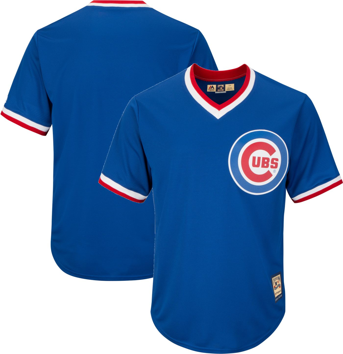 Majestic Men's Replica Chicago Cubs Cool Base Royal Cooperstown Jersey