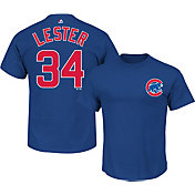 Majestic Triple Peak Men's Chicago Cubs Jon Lester Royal T-Shirt