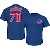 Majestic Triple Peak Men's Chicago Cubs Joe Maddon Royal T-Shirt