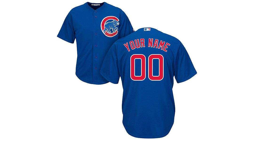 sports shoes 3d802 f39fd Majestic Men's Custom Cool Base Replica Chicago Cubs Alternate Royal Jersey