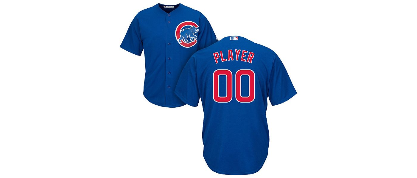 Majestic Men's Full Roster Cool Base Replica Chicago Cubs Alternate Royal Jersey