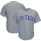Majestic Men's Replica Chicago Cubs Cool Base Road Grey Jersey
