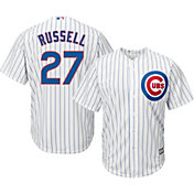 Majestic Men's Replica Chicago Cubs Addison Russell #27 Cool Base Home White Jersey