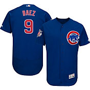 Majestic Men's Authentic Chicago Cubs Javier Baez #9 Alternate Royal Flex Base On-Field Jersey