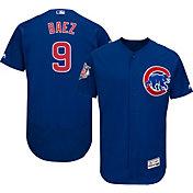 Majestic Men's Authentic Chicago Cubs Javier Baez #9 Alternate Royal Flex Base On-Field Jersey