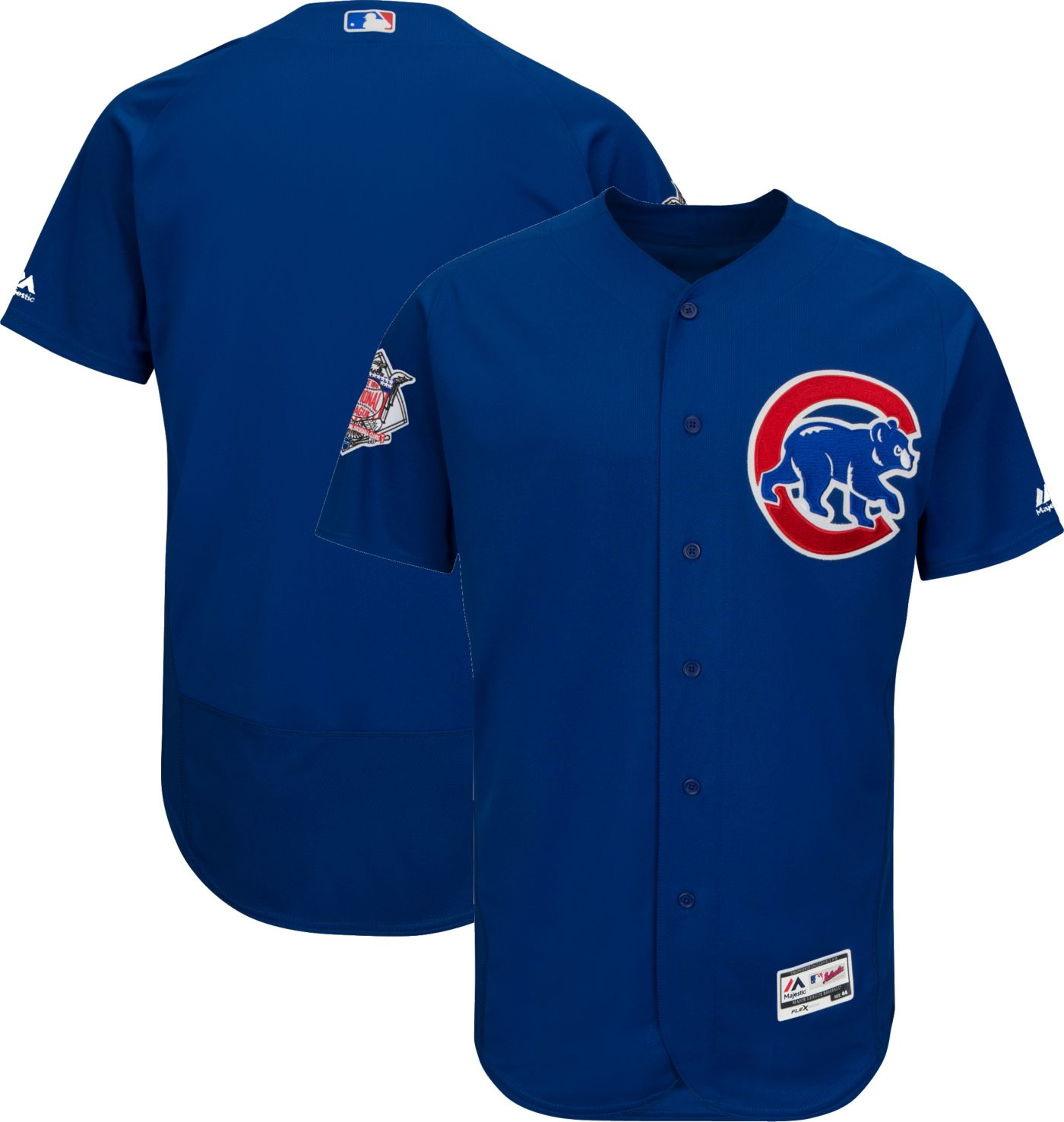 Majestic Men's Authentic Chicago Cubs Alternate Royal Flex Base On-Field Jersey