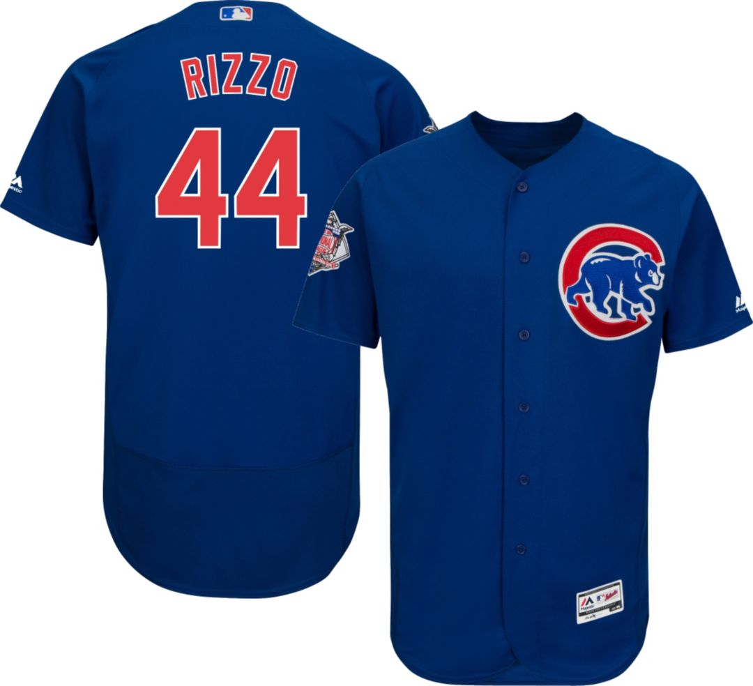 buy online 661ab f5380 Majestic Men's Authentic Chicago Cubs Anthony Rizzo #44 Alternate Royal  Flex Base On-Field Jersey