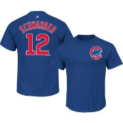 Majestic Men's Chicago Cubs Kyle Schwarber #12 Royal T-Shirt