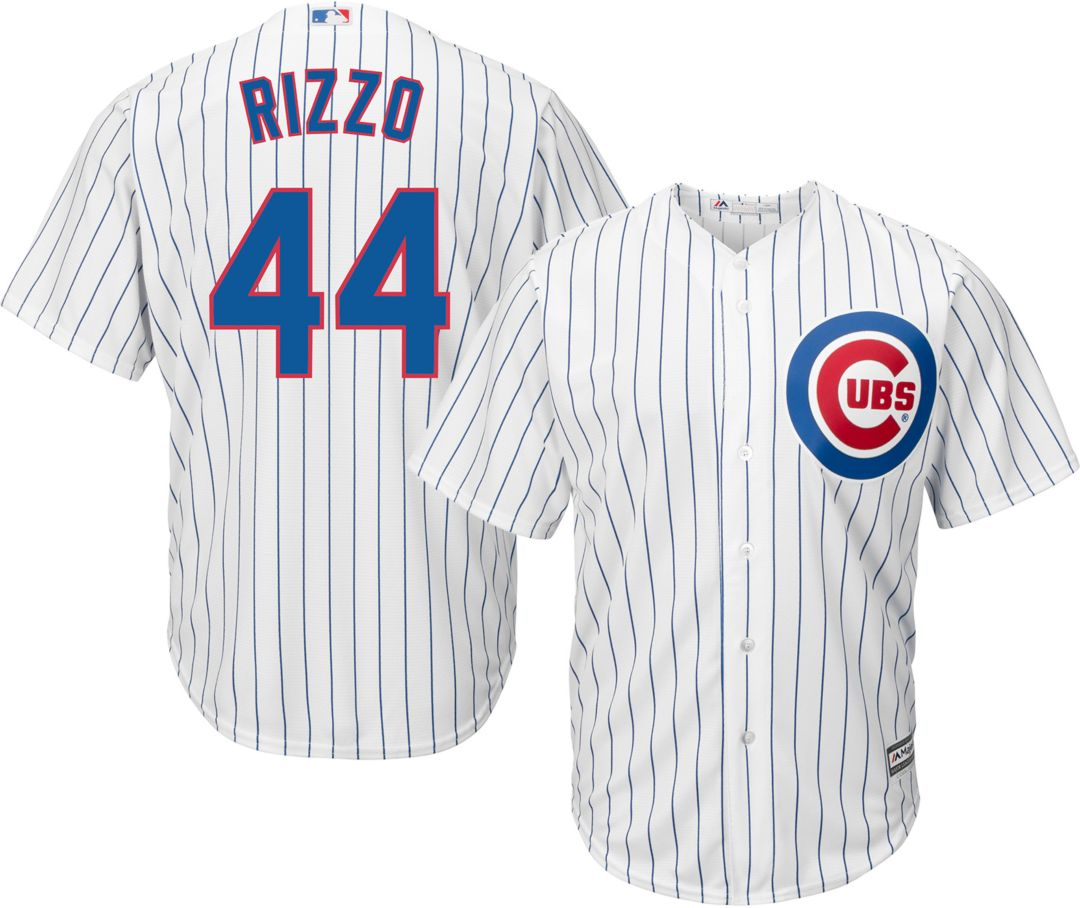 brand new b50d6 f036e Majestic Men's Replica Chicago Cubs Anthony Rizzo #44 Cool Base Home White  Jersey
