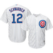 4269dc70b Majestic Men s Replica Chicago Cubs Kyle Schwarber  12 Cool Base Home White  Jersey