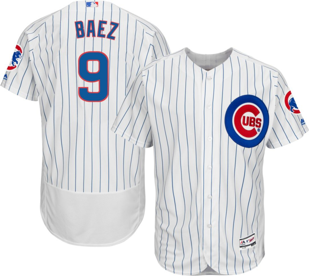 huge discount 9e8dc feea0 Majestic Men's Authentic Chicago Cubs Javier Baez #9 Home White Flex Base  On-Field Jersey