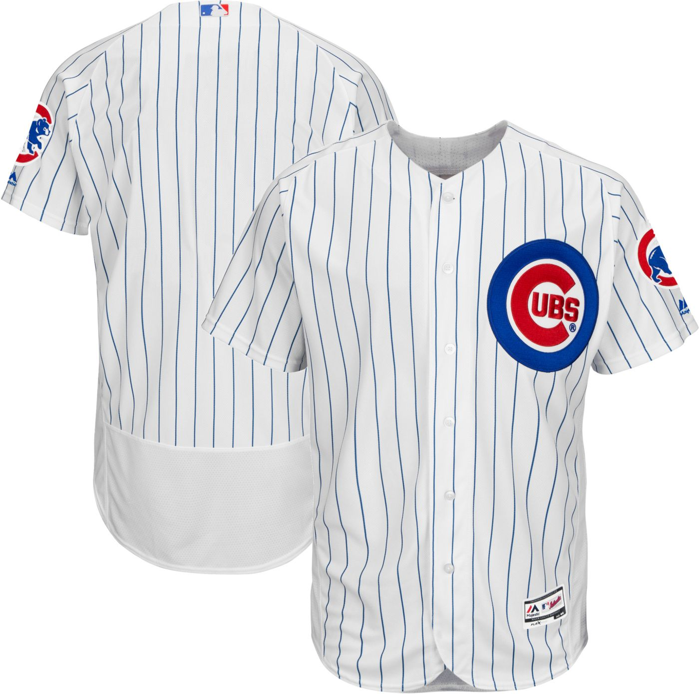 Majestic Men's Authentic Chicago Cubs Home White Flex Base On-Field Jersey