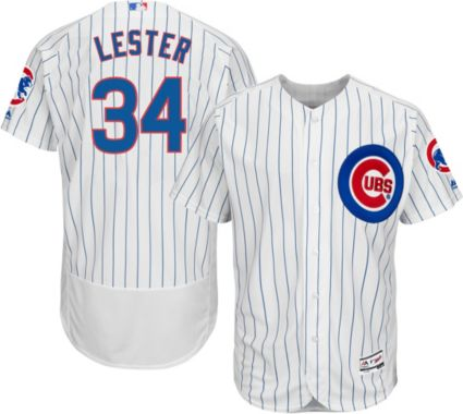 4506f735c Majestic Men s Authentic Chicago Cubs Jon Lester  34 Home White Flex Base  On-Field Jersey. noImageFound