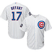 Majestic Men's 2016 World Series Replica Chicago Cubs Kris Bryant #17 Cool Base Home White Jersey