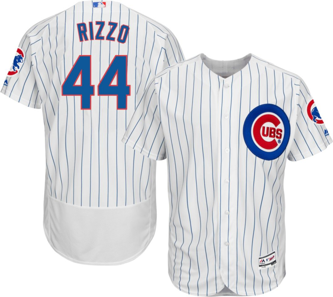 the latest 78520 1faf9 Majestic Men's Authentic Chicago Cubs Anthony Rizzo #44 Home White Flex  Base On-Field Jersey