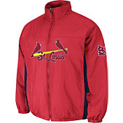 Majestic Men's St. Louis Cardinals Double Climate On-Field Navy Jacket