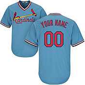 Majestic Men's Custom Cool Base Cooperstown Replica St. Louis Cardinals 1967-97 Light Blue Jersey