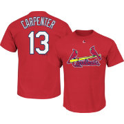 Majestic Men's St. Louis Cardinals Matt Carpenter #13 Red T-Shirt