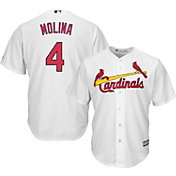 89a08161f Product Image · Majestic Men s Replica St. Louis Cardinals Yadier Molina  4 Cool  Base Home White Jersey