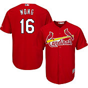 Majestic Men's Replica St. Louis Cardinals Kolten Wong #16 Cool Base Alternate Red Jersey
