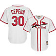 Majestic Men's Replica St. Louis Cardinals Orlando Cepeda Cool Base White Cooperstown Jersey