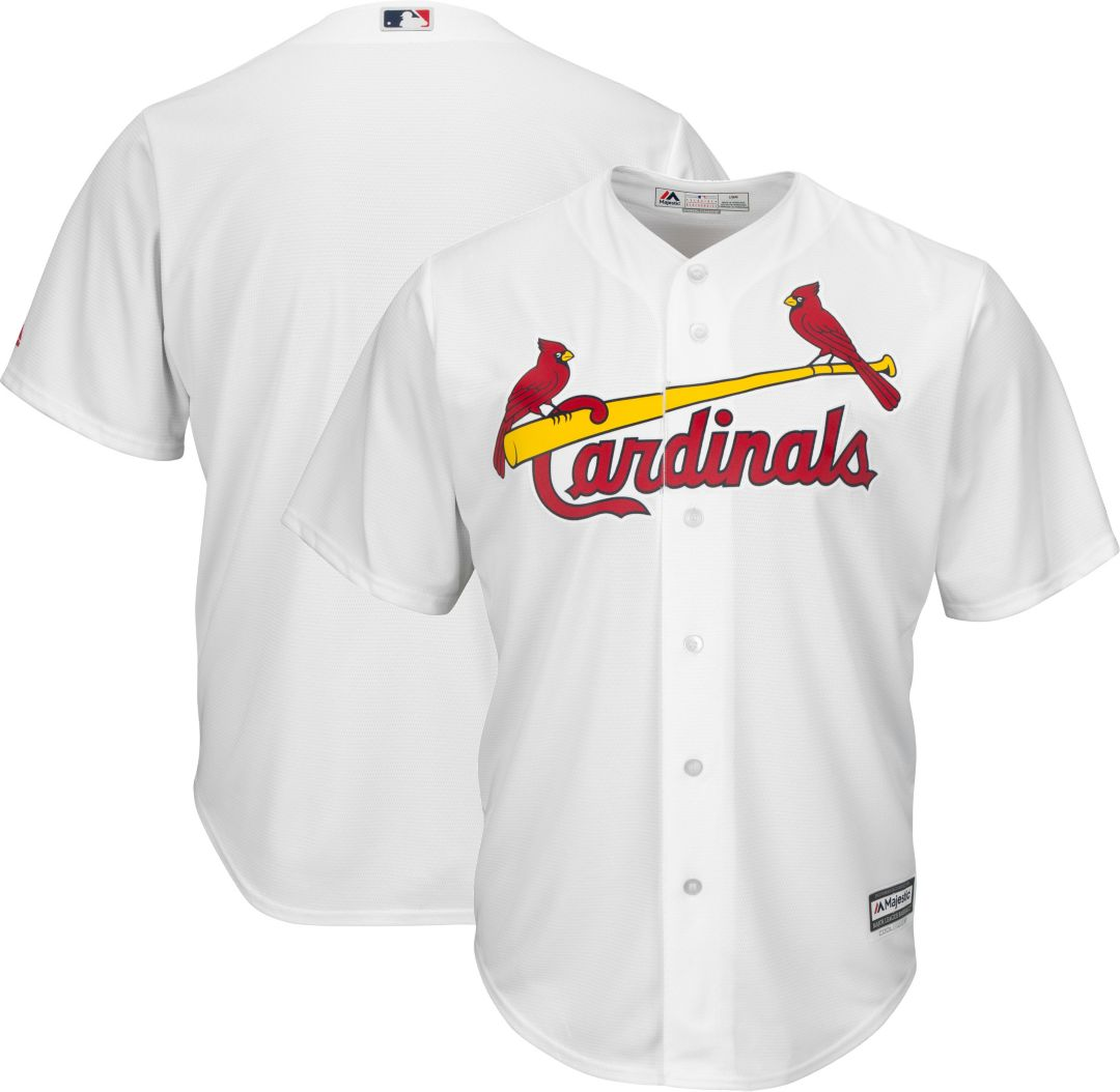 promo code 18cd5 cfc75 Majestic Men's Replica St. Louis Cardinals Cool Base Home White Jersey