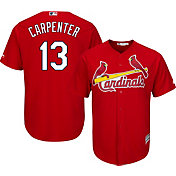 Majestic Men's Replica St. Louis Cardinals Matt Carpenter #13 Cool Base Alternate Red Jersey