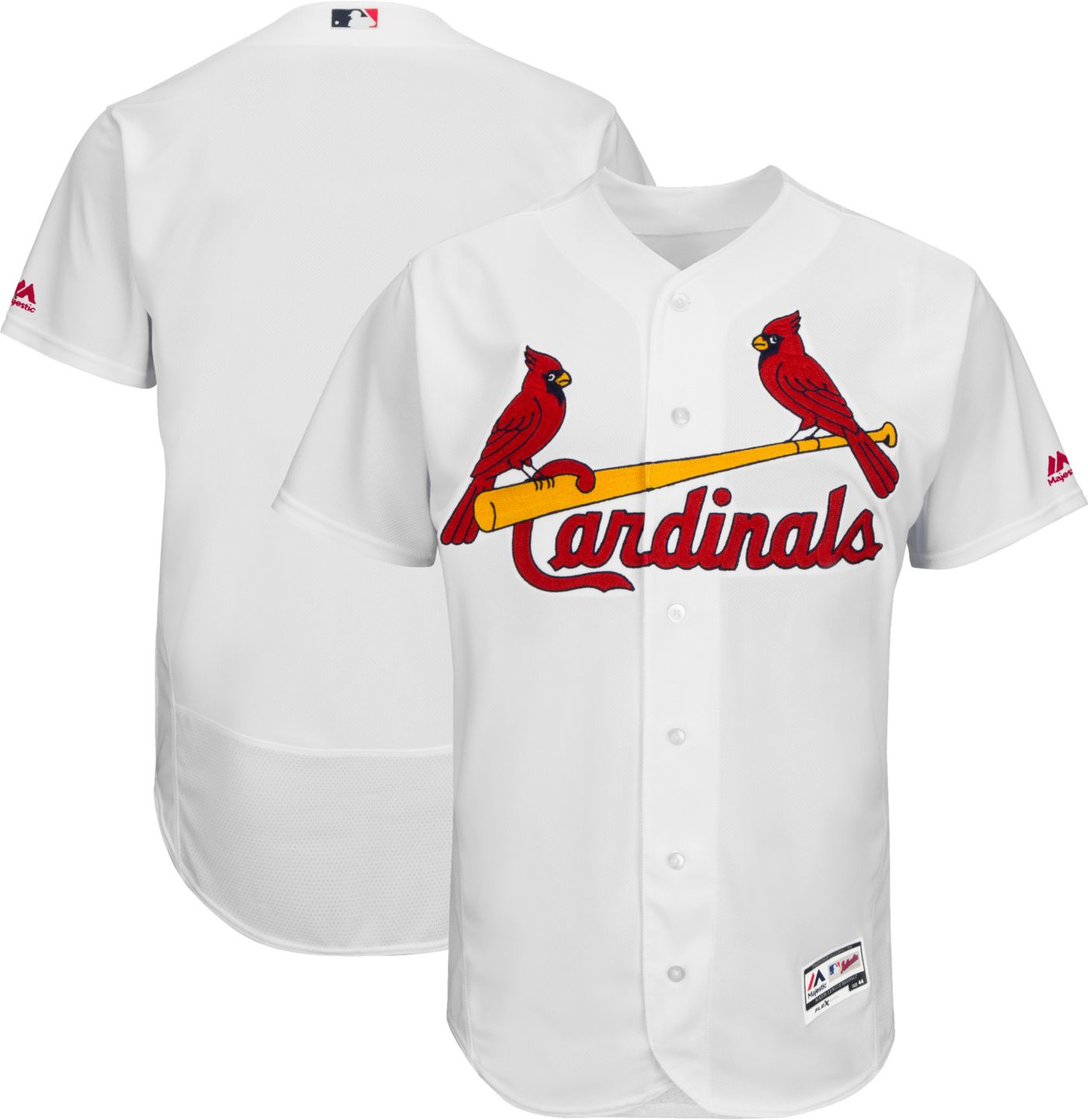 Majestic Men's Authentic St. Louis Cardinals Home White Flex Base On-Field Jersey